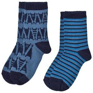 Reima Unisex Underwear Blue 2-Pack Socks Sturm Soft Blue
