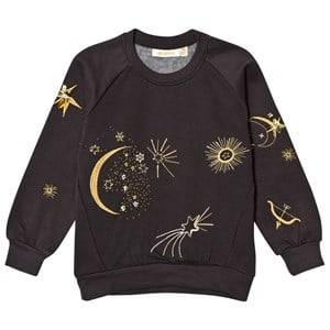 Soft Gallery Girls Jumpers and knitwear Black Babs Sweatshirt Peat Galaxy Emb.