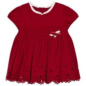 Image of Mayoral Girls Dresses Red Red Heart Embroidered Dress