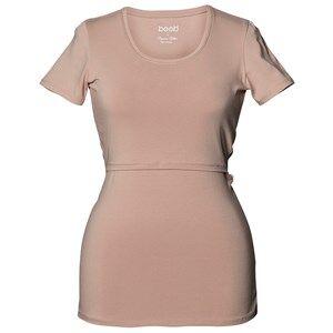 Boob Girls Maternity tops Beige Classic Top Short Sleeve Powder Beige