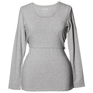 Boob Girls Maternity tops Grey Classic Top Long Sleeve Grey Melange