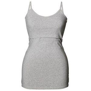 Boob Girls Maternity tops Grey Classic Strap Singlet Grey Melange