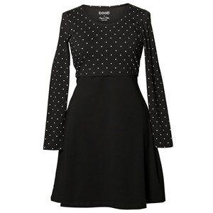 Boob Girls Maternity dresses Black Dottie Dress Black/Off White Dot