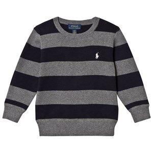 Ralph Lauren Boys Jumpers and knitwear Multi Grey/Navy Stripe Sweater