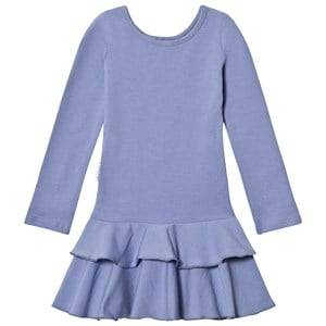 Image of Gugguu Girls Dresses Blue Frilla Dress Ice Blue