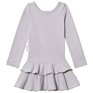 Image of Gugguu Girls Dresses Navy Frilla Dress Dabble Grey