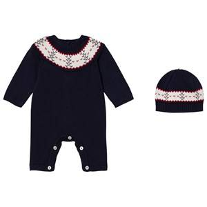 Emile et Rose Boys All in ones Navy Lennox Navy Fairisle One-Piece