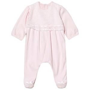 Image of Emile et Rose Girls All in ones Pink Louise Pink Lace Footed Baby Body