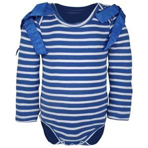 The BRAND Girls Private Label All in ones Blue Body Bow Interlock Blue/White