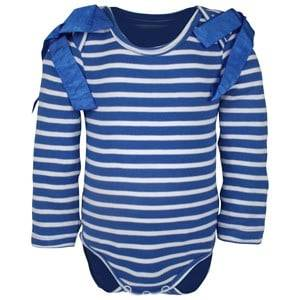 Image of The BRAND Girls Private Label All in ones Blue Body Bow Interlock Blue/White