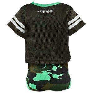 The BRAND Boys Private Label All in ones Green Laila Bagge Fotball Body Camo/Dark Green
