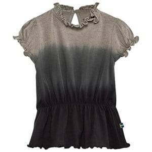 The BRAND Girls Private Label Tops Grey Puff Top Grey Dip Dye