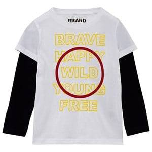 The BRAND Boys Private Label Tops White Brave Tee White/Black