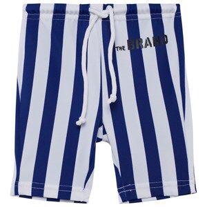 The BRAND Girls Private Label Shorts Blue Swim Bikers Blue/White Stripe