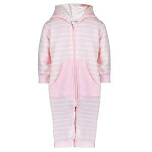 Image of Kuling Unisex Private Label All in ones Pink Kuling Newborn, Jumpsuit, Organic Cotton, Stripe Rose