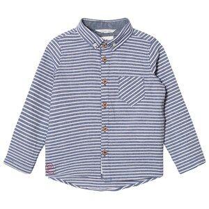 eBBe Kids Boys Commission Tops Blue Andreas Shirt Denim Blue Stripe