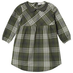 eBBe Kids Girls Commission Dresses Green Amanda Dress Bronze Green Check