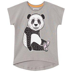 Filemon Kid Unisex Tops Grey T-shirt Sleepy Panda Griffin