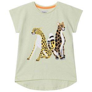 Filemon Kid Unisex Tops Green T-Shirt Cheetahs Lime Cream