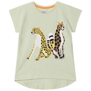 Filemon Kid Unisex Tops Green T-Shirt Cheetahs Lime Cream