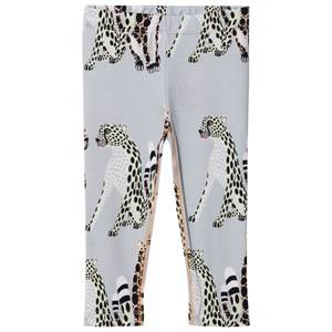 Filemon Kid Unisex Bottoms Grey Leggings Cheetahs