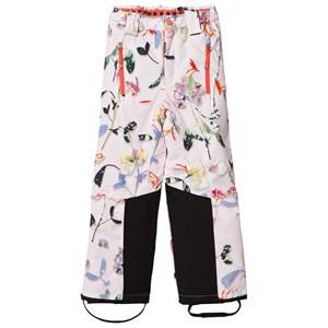 Image of Molo Girls Bottoms White Jump Pro Woven Pants Paper Petals