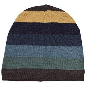 Molo Unisex Headwear Blue Colder Hats Ocean Stripe