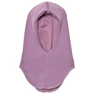 Mikk-Line Unisex Headwear Purple Wool Balaclava Solid Violet