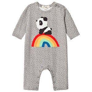The Bonnie Mob Unisex All in ones Grey Rainbow Panda One-Piece Hash Tag Grey
