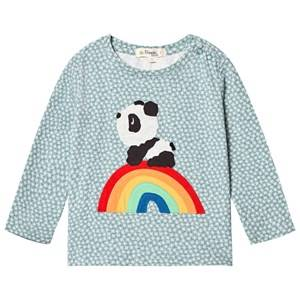 The Bonnie Mob Boys Tops Blue Rainbow Panda Applique Tee Hash Tag Blue