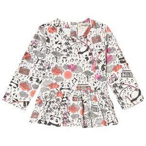The Bonnie Mob Girls Tops Pink Panda Print Top Pink