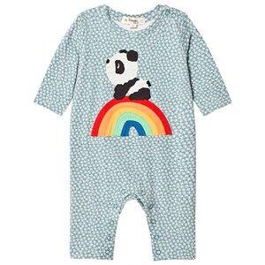 The Bonnie Mob Boys All in ones Blue Rainbow Panda One-Piece Hash Tag Blue