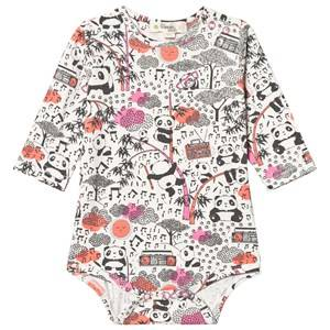 The Bonnie Mob Girls All in ones Pink Panda Print Baby Body Pink
