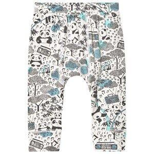 The Bonnie Mob Boys Bottoms Blue Panda Print Baby Leggings Blue