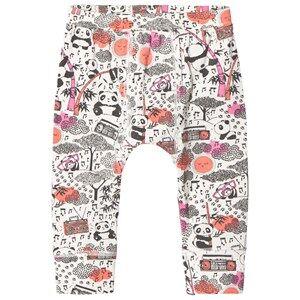 The Bonnie Mob Girls Bottoms Pink Panda Print Baby Leggings Pink