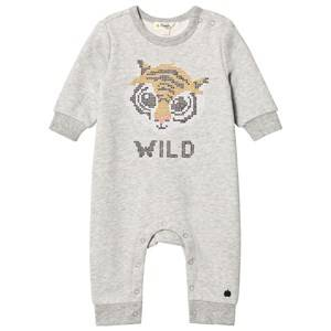 The Bonnie Mob Unisex All in ones Grey Cross Stitch Tiger One-Piece Grey