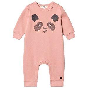 The Bonnie Mob Girls All in ones Pink Cross Stitch Panda One-Piece Powder