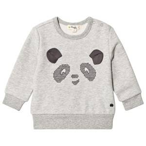 The Bonnie Mob Unisex Jumpers and knitwear Grey Cross Stitch Panda Sweatshirt Grey