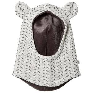 The Bonnie Mob Unisex Headwear Grey Bamboo Print Balaclava with Ears Grey