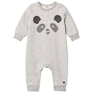 The Bonnie Mob Unisex All in ones Grey Cross Stitch Panda One-Piece Grey
