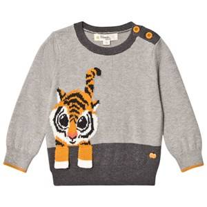 The Bonnie Mob Unisex Jumpers and knitwear Grey Tiger Intarsia Sweater Grey