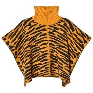 The Bonnie Mob Unisex Coats and jackets Orange Tiger Stripe Jacquard Cape Honey