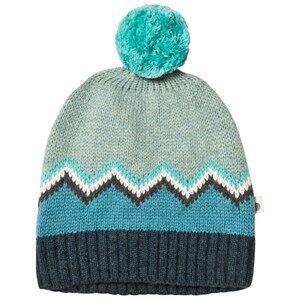 The Bonnie Mob Boys Headwear Blue Chunky Knitted Pom Pom Hat Blue