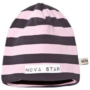 Nova Star Unisex Headwear Pink Beanie Fleece Lining Striped Light Pink