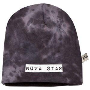 Nova Star Unisex Headwear Black Beanie Fleece Lined Grey/Black