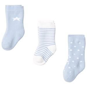 Gant Unisex Childrens Clothes Underwear Blue Newborn Socks 3-Pack Blue