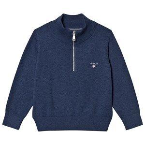 Gant Boys Jumpers and knitwear Grey Grey Melange Half Zip Knit Jumper
