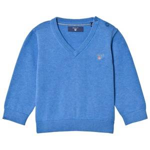 Gant Boys Jumpers and knitwear Blue Blue Cotton V Neck Jumper