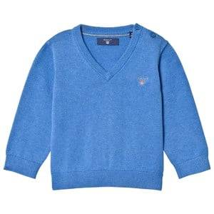 Gant Boys Jumpers and knitwear Blue Blue Cotton V Neck Jumper
