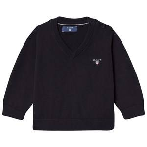 Gant Boys Jumpers and knitwear Navy Navy Cotton V Neck Jumper